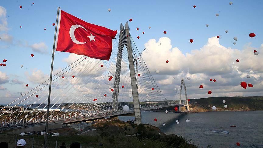 Yavuz sultan Selim Köprüsü 59 metre genişliğiyle dünyanın en uzun asma köprüsü ünvanına sahip olan Yavuz Sultan Selim Köprüsü, yılın en çok konuşulan projesi oldu
